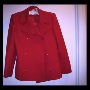 Red Wool Jacket Size 6